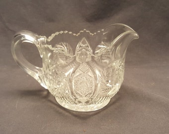 Small Vintage Creamer Pitcher Cut Glass