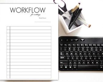 Blank Wedding Workflow: Black Font