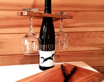 Wine Bottle Glass Holder