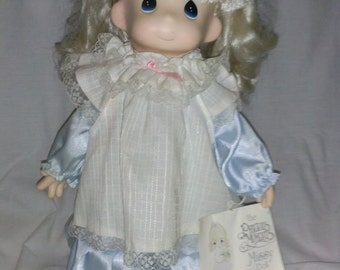 """Precious Moments """"Missy"""" Doll With Stand and original box"""
