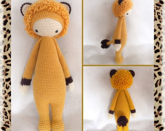 LONI the LION by Lalylala pattern/Amigurumi toy/Crochet doll