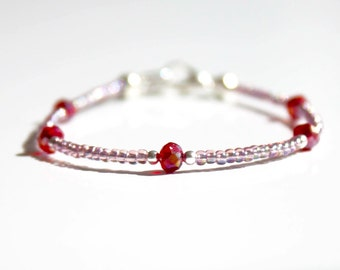 Seed bead bracelet, light purple bracelet, Ibiza bracelet, boho bracelet, stack bracelet, delicate bracelet, mothersday present, friendship