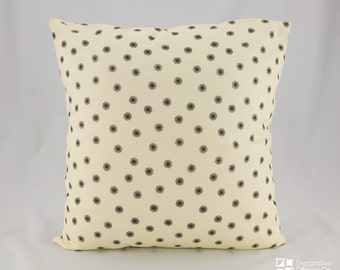 Black Flying Seeds Pillow Cover, Black and Beige throw pillow, Decorative Pillows, throw pillow, Pillow Covers, Black and Beige, Flying Seed