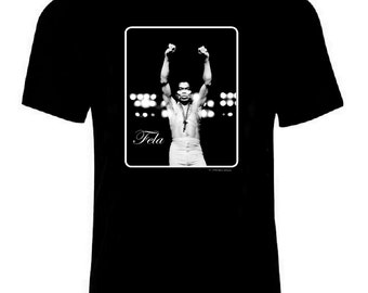 Fela Kuti black T-shirt,Leni SInclair iconic photo,afrobeat afro beat ,African African Music,Men S-2X NEW