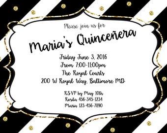 Quincenera Invitation// Printable Digital Download