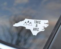 Hiking Decal - Take a Hike - Hiking Car Decal - Camping Decal - Hiking Sticker - State Hiker