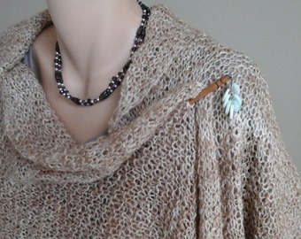 Camel and Silk Handspun Wrap