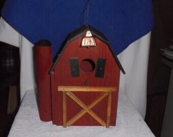 A Red Barn,  Bird House