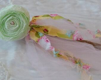 Princess Wand - Flower Girl Wand - Mint Flower Girl Wand - Girls Birthday Party Favor - Birthday Gift for girl - Princess Wand - Girly gift