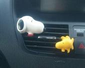 Snoopy & Woodstock* Handmade, Car vent clip, car air freshener, car interior, car accessory, car fragrance