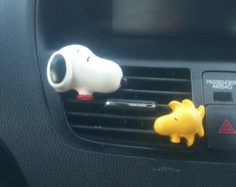 Snoopy & Woodstock* Handmade, Car vent clip, car air freshener, car interior, car accessory, car fragrance