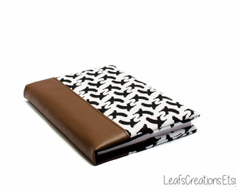 Notebook with removable cover Journal cover Fabric book cover Removable book cover A5 including notebook