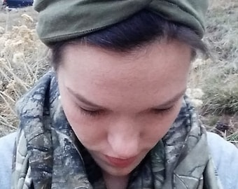 Army Green Knot Headband