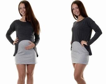 Maternity clothes maternity tunic blouse Long Maternity wear
