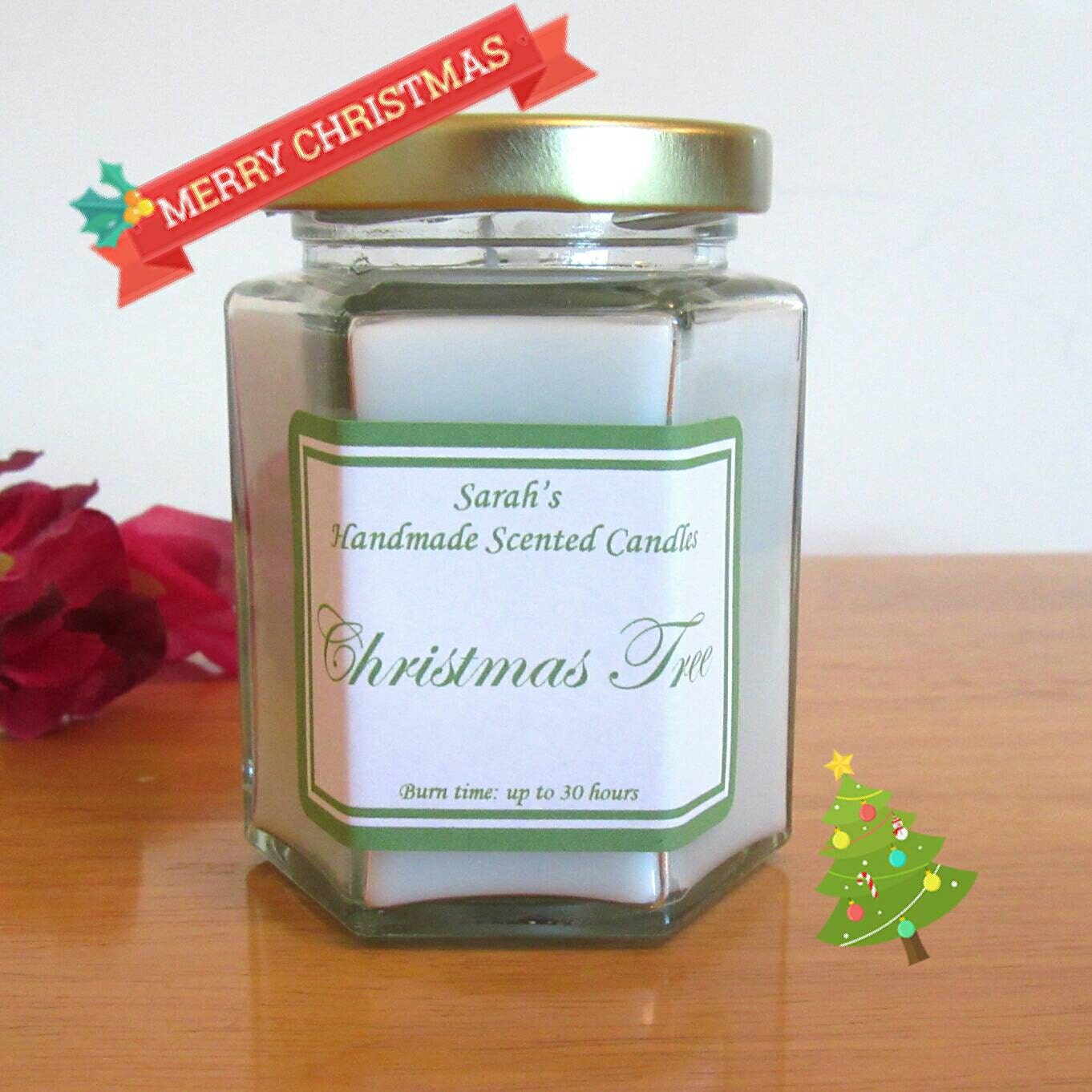 christmas tree candle scented candle christmas candle