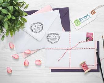 Custom Rubber Stamp, Self Inking Stamp, Custom Return Address Stamp, Self Ink Return Address Stamp, --SI-400RC-Sarah Ben