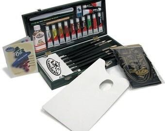 Oil Painting Set by Royal & Langnickel | Oil Color, Art Set, Oil Paint, Brush Set, Painting Kit, Artist Gift Set | Wooden Storage Box