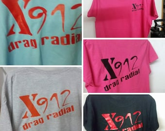 X-912 Drag Radial T-Shirts for men/ladies/children/and/babies