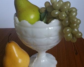 Vintage Milk Glass Bowl - Napco 1185 Pedestal Bowl