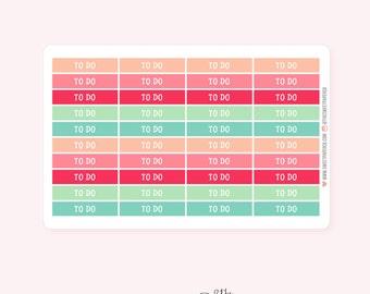 To Do Header Planner Stickers | DREAM BIG