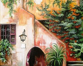 Oil paint - Rome Trastevere (Acetari)