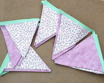 Various patterned summer bunting  cotton double sided patterned ... See pictures and add your choice