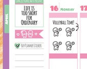 Munchkins - Volleyball Practice or Game Planner Stickers (M199)