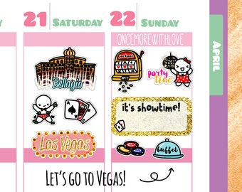 Munchkins - Las Vegas Travel the World Planner Stickers (M170)