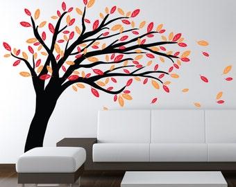 Windy Tree - Vinyl Wall Decal