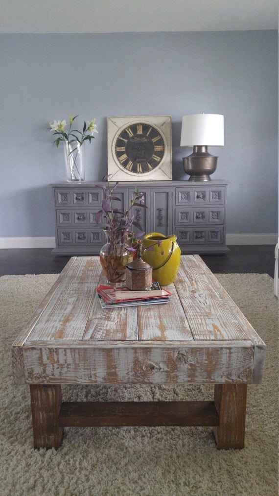 Rustic Coffee Table Farmhouse Coffee Table By