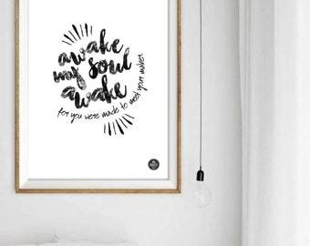 Motivational Music Art Print, Instant Download, Black and White, Home Decor, Lyrics, Song, Quote, Wordings