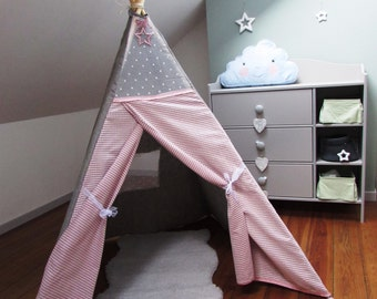 "Teepee ""Angelique""/ Kids design play tent/ Tipi/wigwam/Playhouse"