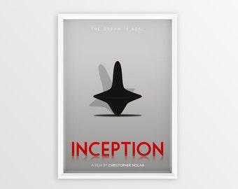 Printable Inception Film Poster // Leonardo DiCaprio // Digital File Download // A2