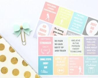 Motivational Stickers, Fitness Stickers, Planner Stickers, Diet Stickers, Workout Stickers, Quote Stickers, Gym Erin Condren Stickers