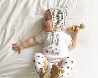 Kawaii Bunny Easter Bodysuit, Kawaii bunny, Bunnie tee shirt, Easter bunny bodysuit, easter outfit, hipster toddler shirt