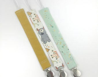 Pacifier Clip Boy - Pacifier Holder - Paci Clip - Paci Holder - Binky Clip - Binky Holder - Baby Gift - Baby Shower Gift - Baby Boy- Baby