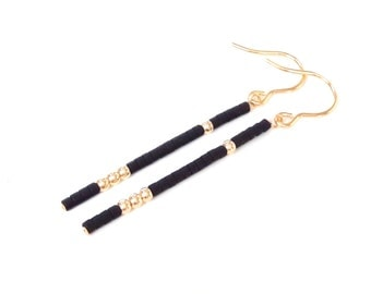 gold filled earrings minimalist jewelry modern earrings gold long earrings dangle earrings