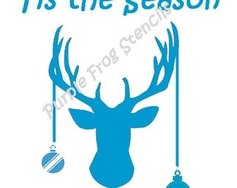 Deer STENCIL (Reusable)Different Sizes Available Tis the Season, Reindeer