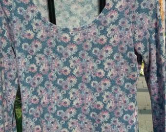 Daisy Print Long Sleeve Top