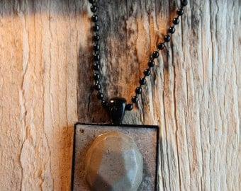 Concrete Pendant and Chain