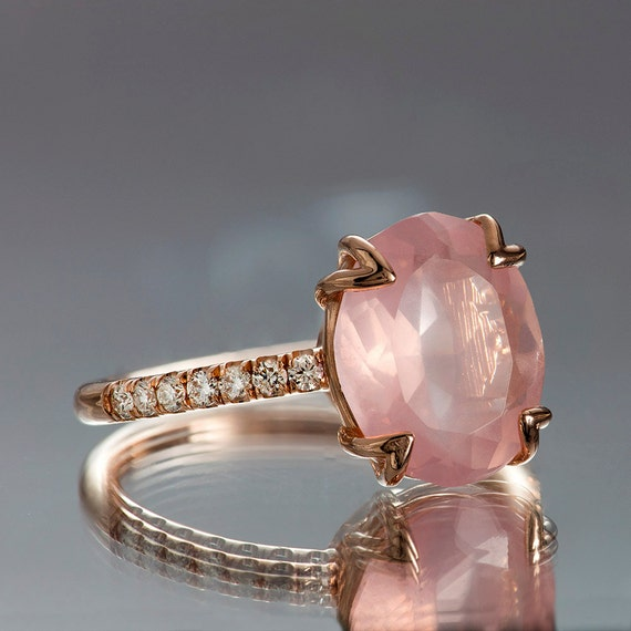 Pink Ice Engagement Rings