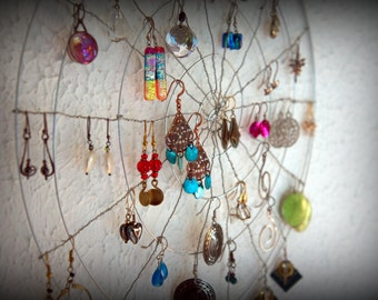 Earring Holder - Wall Hanging - Jewelry Holder - Wall Earring Display - Jewelry Display - Jewelry Organizer - Wall Decor - Wall Storage
