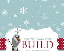 Do You Want to Build a Snowman Bag Toppers- Olaf Bag Topper Instant Download Bag Toppers- Digital Bag Toppers-PDF Snowman Topper