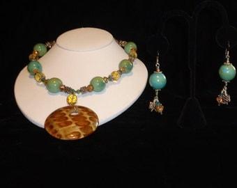 Artisan BoHo Necklace & Earrings Set by Nicole Stewart Designs A Unique Find