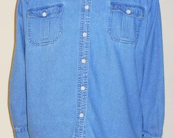Vintage Denim Button Up
