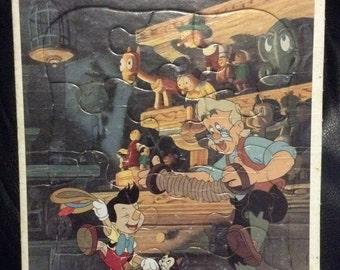 Vintage Golden Disney PINOCHIO Frame Tray Puzzle