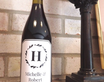 Customized Wine Label Wedding Gift