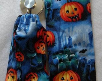 Halloween Jack-O'-Lanterns Stethoscope Cover/Scope Coat