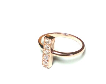 Bar Ring-Rose Gold Ring-Gold Bar Ring-Hand Made Ring-