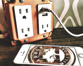 Metal USB OUTLET BOX Charging Station